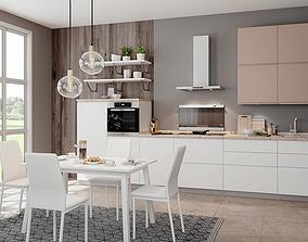 Kitchen 3D interior room kitchen