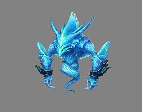 3D model Cartoon summon monster - Water Elemental Spirit 2