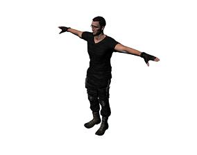 3D model special forces night wolves named Frenk
