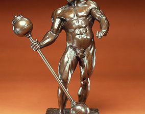 Eugen Sandow MrOlimpia statue 3D printable model