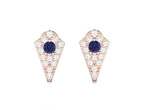 Women earrings 3dm render detail jewel studs