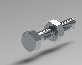 3D A bolt and nut
