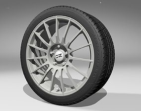 OZ Superturismo Alloy Wheel with PZERO Tire 3D model
