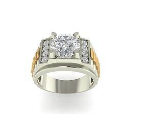 Diamond men ring rolex watch style 3D printable model