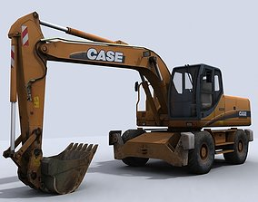 Excavator 3D asset game-ready