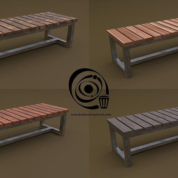 Bench 10 4in1 - 4 Texture 1 Model