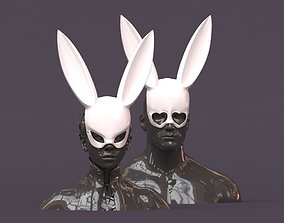 Rabbit Mask printable 2 versions other
