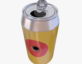 3D asset Can with bullet hole