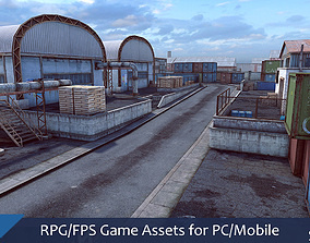 3D model RPG FPS Game Assets for PC Mobile Industrial Set