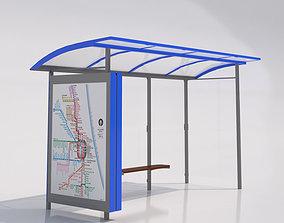 3D MMCite Skandum 110b Bus Shelter