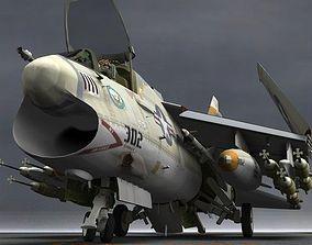 3D A7D-E Corsair II for Poser
