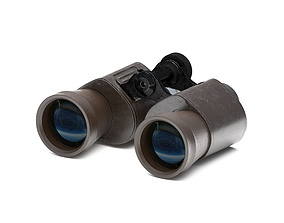Binoculars 3D model optics