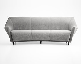 3D Ico Parisi Curved Back Sofa Manufactured by Ariberto