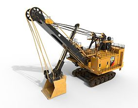 3D model VR / AR ready Electric rope shovel