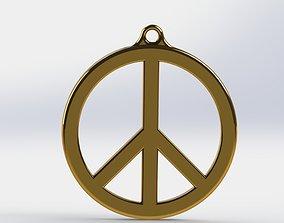 3D print model PEACE SYMBOL PENDANT