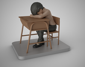 Sleeping Student 3D printable model