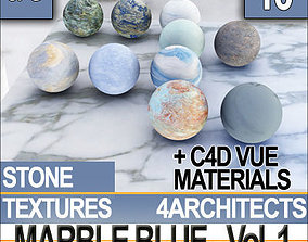 3D Marble Blue and Materials Vol 1