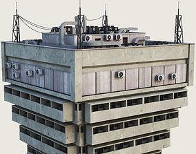 Building Skyscraper City Town Downtown 3D asset 4