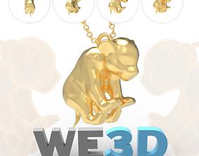 simba Cub Pendant - Baby Feline Lion 3D Printable