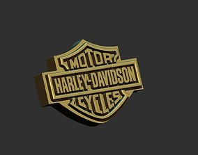 3D printable model logo harley davidson