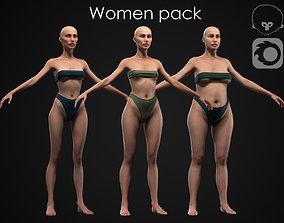 Women pack 3D model