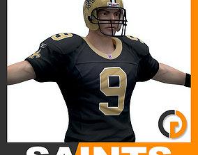 3D model NFL Player New Orleans Saints