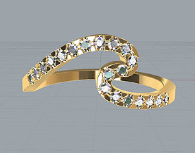 Wave Ring 3D printable model