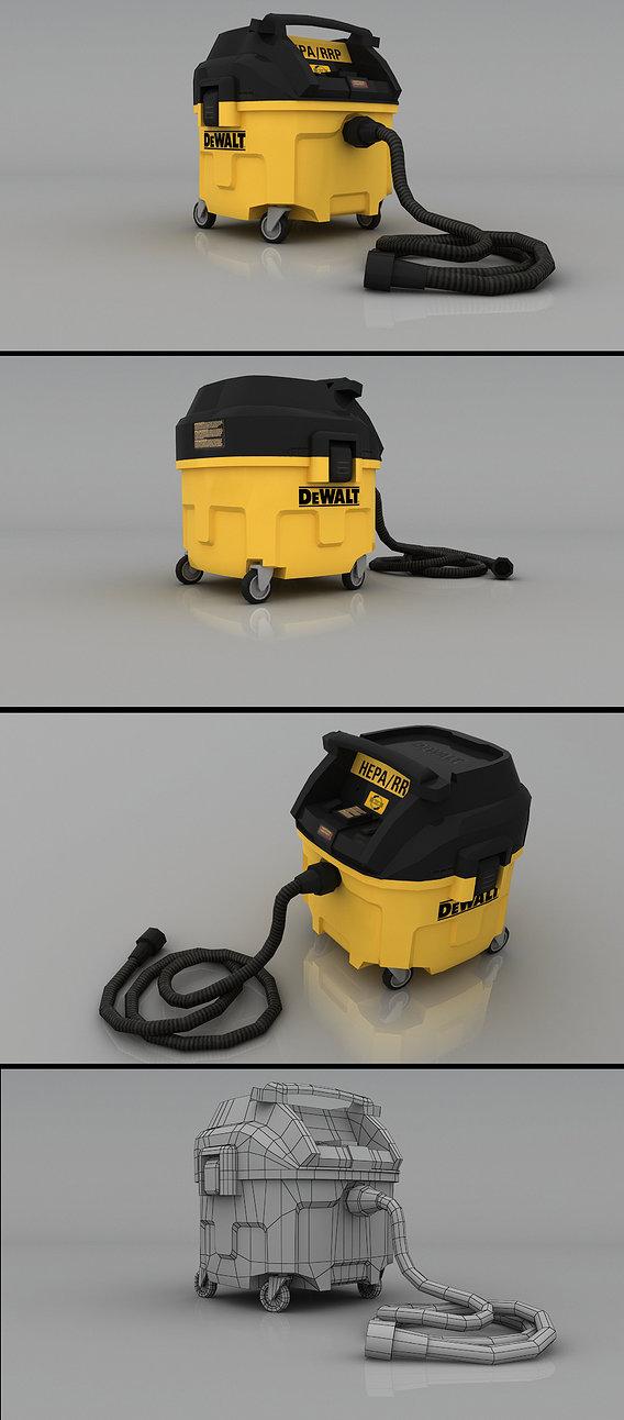 DEWALT HEPA Dust Collector Render