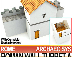 3D model Ancient Roman Wall Turret A