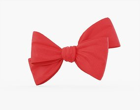 3D model Red Bow 02