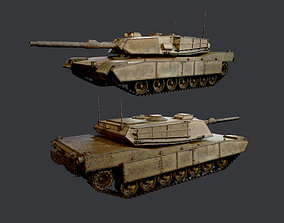 3D model M1 Abrams Tank Military Vehicle Game Ready 02