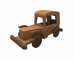 3D model Wooden car toy retro 5