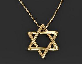3D print model Star of David pendant necklace