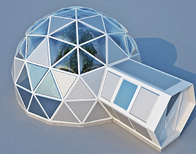 3D model exterior Geodome House