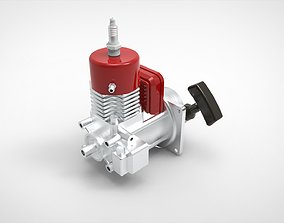 3D model Engine Motor single piston