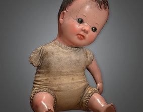 Old Creepy Doll Antiques - PBR Game Ready 3D model
