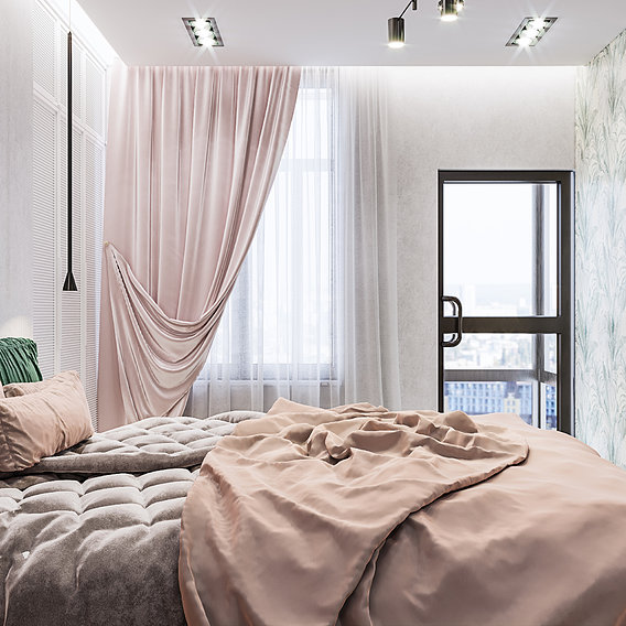 Luxury bedroom with eklektika done by 3DAG