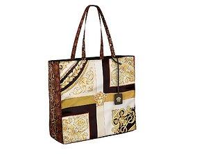 Versace Bag Mixed Print Tote 3D
