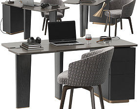 Minotti Jacob desk set 3D