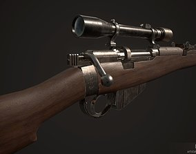 Lee Enfield SMLE mk3 no1 Scope attachment 3D asset
