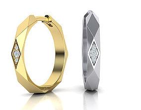 Facet Hoop earrings unique design 3dmodel