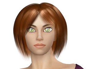 3D model Young Woman