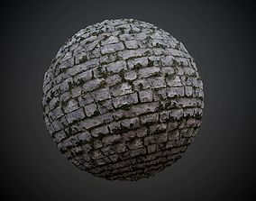 Cobblestone Walkway Grass Dirt Seamless PBR 3D model