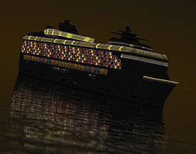 3D model Night Cruise Liner
