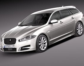 Jaguar XF Sportbrake 2013 3D model