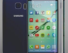 Samsung Galaxy S6 Edge blue 3D model