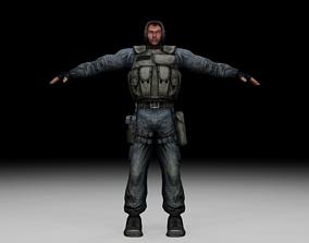 3D asset Stalker - Mercenary 06