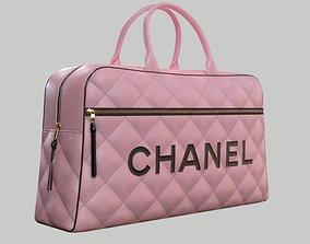 CHANEL Vintage Logo Bowler Bag Quilted Lambskin 3D model