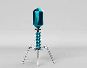 3D model Bacteriophage