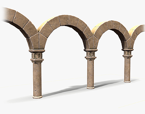 Stylized Colonnade 3D model